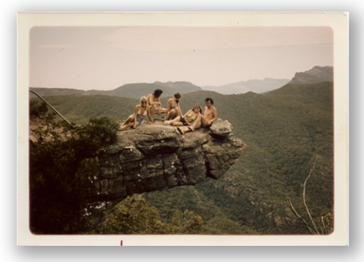 Friends enjoying the view of the Grampians in Victoria.