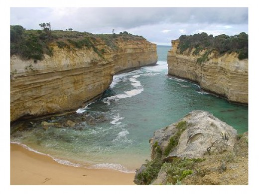 Loch Ard gorge on the Victorian Coast, scene of a famous ship wreck.