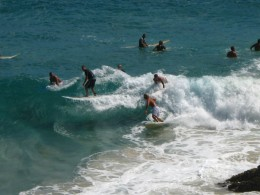 Surfs up at Byron Bay pretty well all year round!