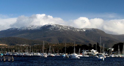 Mount Wellington overlooks the capital city Hobart