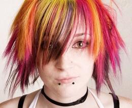 """""""The girl with the rainbow hair""""."""