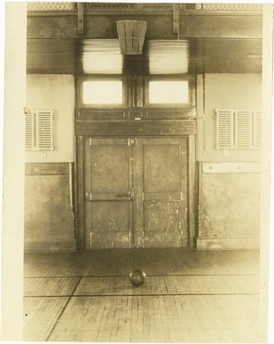 First basketball court, Springfield College, Massachusetts.