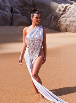 Kim Kardashian self proclaimed Goddess of Water 2010 calendar