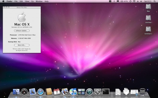 Mac OSX installed on my Dell Inspiron 1520.