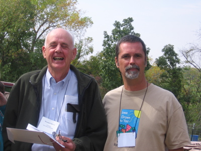 A joyful picture of Wendell Berry.  Salud Mr. Berry! Wendell Berry (left) and Lonnie Gamble(right) from prof. Gambled's website