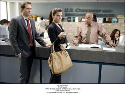 "Margaret and Andrew's first visit to the Department of Immigration. Scene from ""The Proposal""."