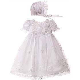 Traditional style baby christening gown