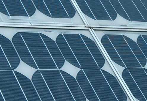 Up Close View of Solar Photovoltaic Panels ~ Image Creative Commons Licensing