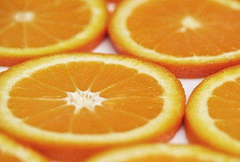 Sliced Juicy oranges