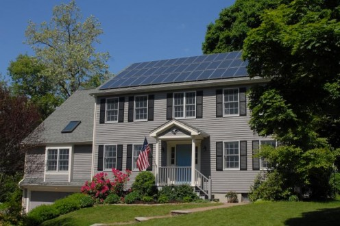 Proper installation of Solar Panels requires correct angle to the Sun and avoidance of trees. Trees may block sunlight from reaching your solar panels as shown here.