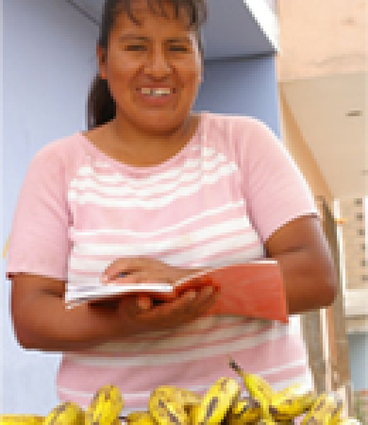 Carmen Ore Torres at her stall.