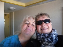 Lauri and Barbara in the hotel ready to begin our adventure.