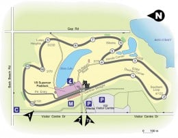 Layout of the Phillip Island Motor Race Track