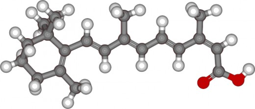 Isotretinoin molecule