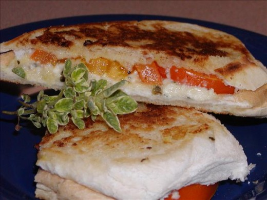 You will want to make your grilled tomato and feta cheese sandwiches on slices of sourdough bread.