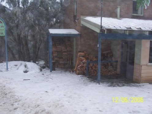 Getting ready for a cold night on Mount Baw Baw. The closest snow fields to Melbourne.