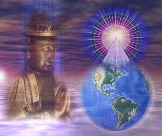 Buddhic consciousness prays for the world