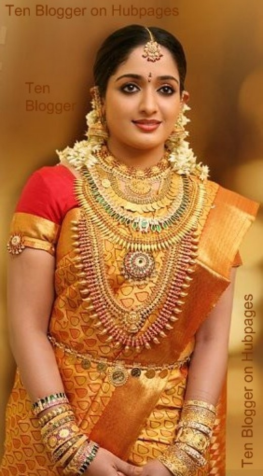 Showing off proper way to carry the Gold Ornaments