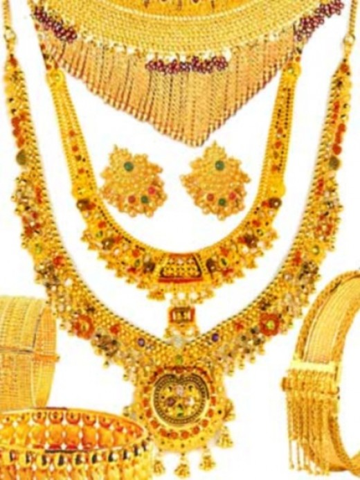 Gold Jewelry collection for brides
