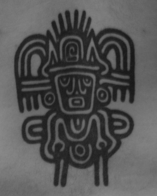 amazing classic aztec tattoo design. Aztecs were a powerful tribe of the