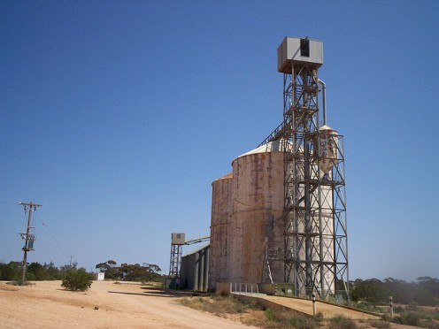 No longer in use this old silo is in the Sunraysia district