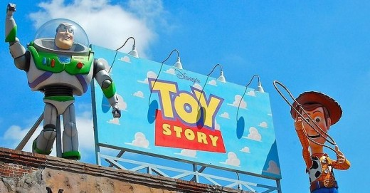 Buzz Lightyear & Woody from Toy Story (Photo Credit: Wikimedia Commons)
