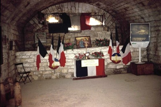 French Memorial inside Fort Douaumont at Verdun