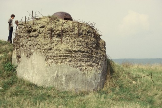 Machine gun pillbox at World War I Battlefield of Verdun