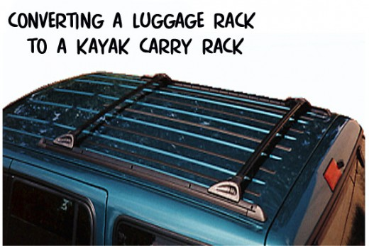 Ordinary luggage racks are too flat for kayaks with their curved decks and hulls.