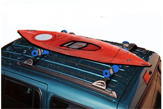 Bungee the kayak in place securely and you're ready to go