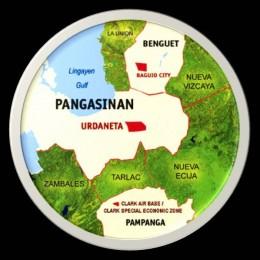 Map of Northern Luzon and Urdaneta City (Graphic courtesy of Erik Fabian)