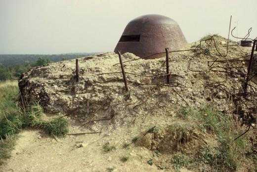 Remains of a gun emplacement at Verdun Battlefield