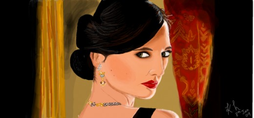 supposed to be Eva Green from the Bond movie