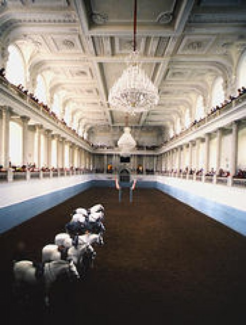The magnificent Riding Hall inside the Imperial Palace