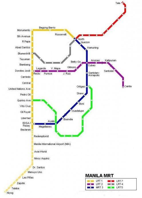 Manila MRT Map