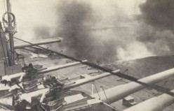 The Dreadnought's guns firing