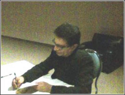Deepak Chopra signing my book