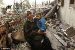 Palesting, a poor, hopeless nation razed to the ground by Israeli weapons.    dailymail.com photo