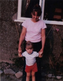 Me three years old, with my mother.