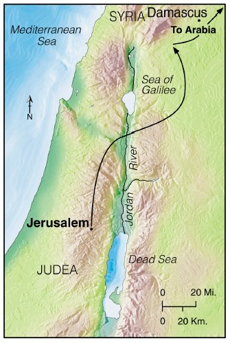 Saul's journey to Damascus