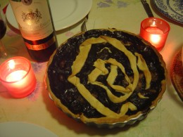We made this tart for Halloween!