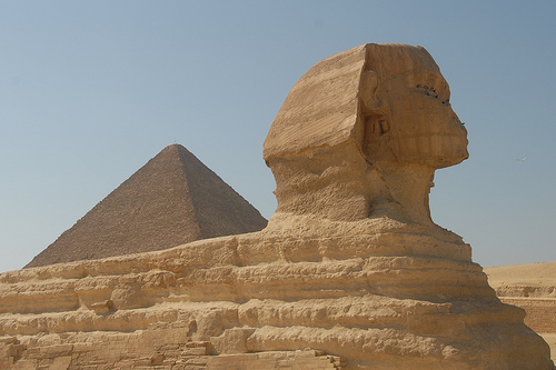 Khafre's pyramid with The Sphinx