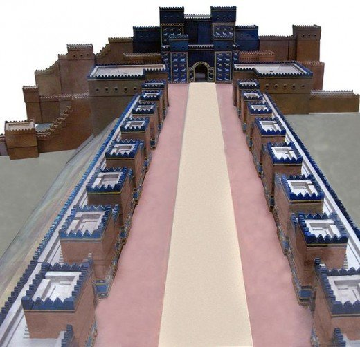 A part of The Ishtar Gate was reconstructed and can now be seen in Pergamon Museum in Berlin, Germany