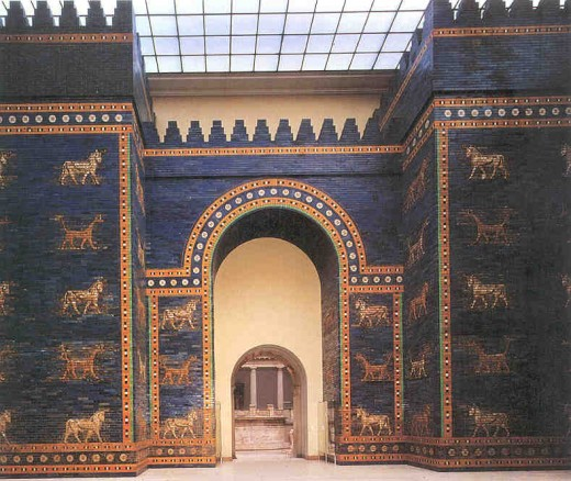 Was The Ishtar Gate the entrance to The Hanging Gardens of Babylon?