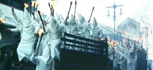 The Ku Klux Klan scene in A Man Called Hero (in the original version)