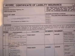 Obtain and review subcontractor's insurance certificates.