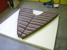 Why not cut your memory foam mattress to fit in, say, a boat? Image source: www.westsail28.com