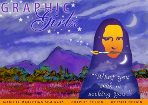 Post Card Design for Graphic Girlz (Self Promo)