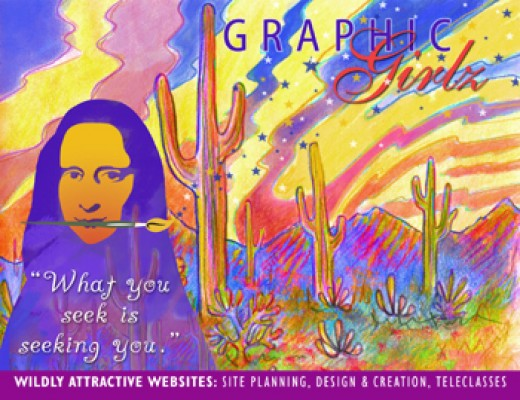 Post Card Design for Graphic Girlz (Self Promotion)