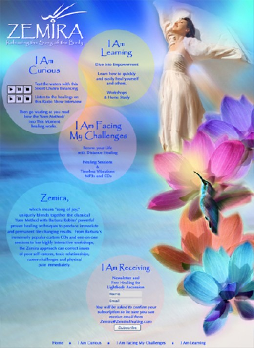 Website Design for Zemira Healing by Graphic Girlz